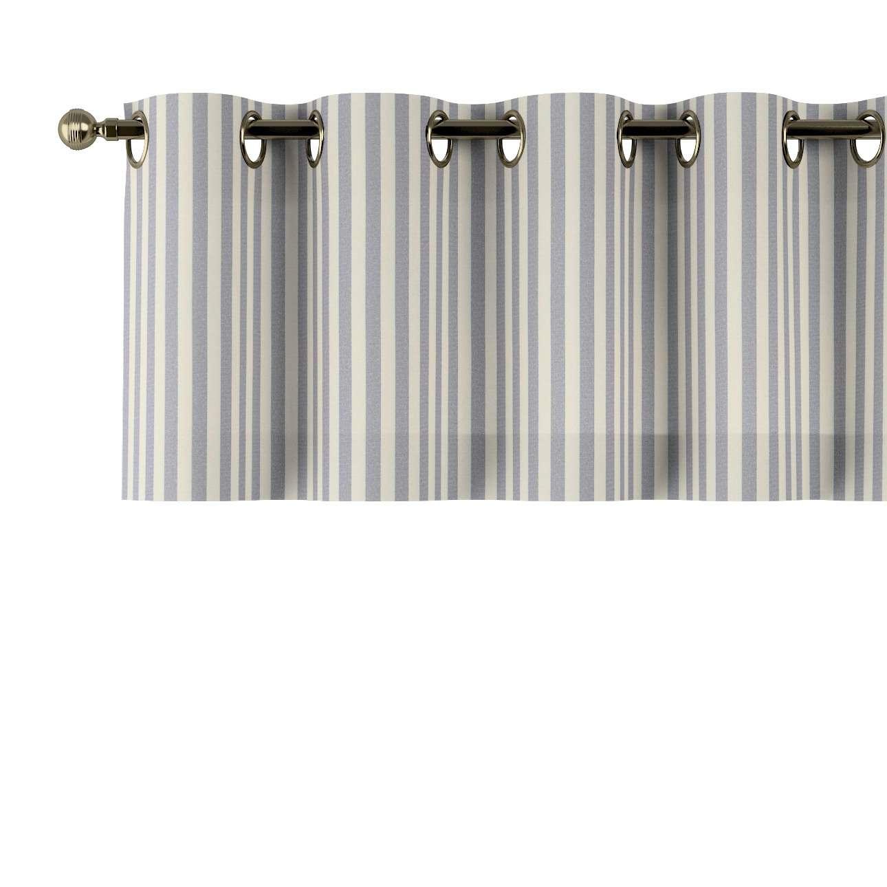 Trumpa užuolaidėlė (lambrekenas) žiedinis klostavimas 130x40cm kolekcijoje Quadro, audinys: 136-02