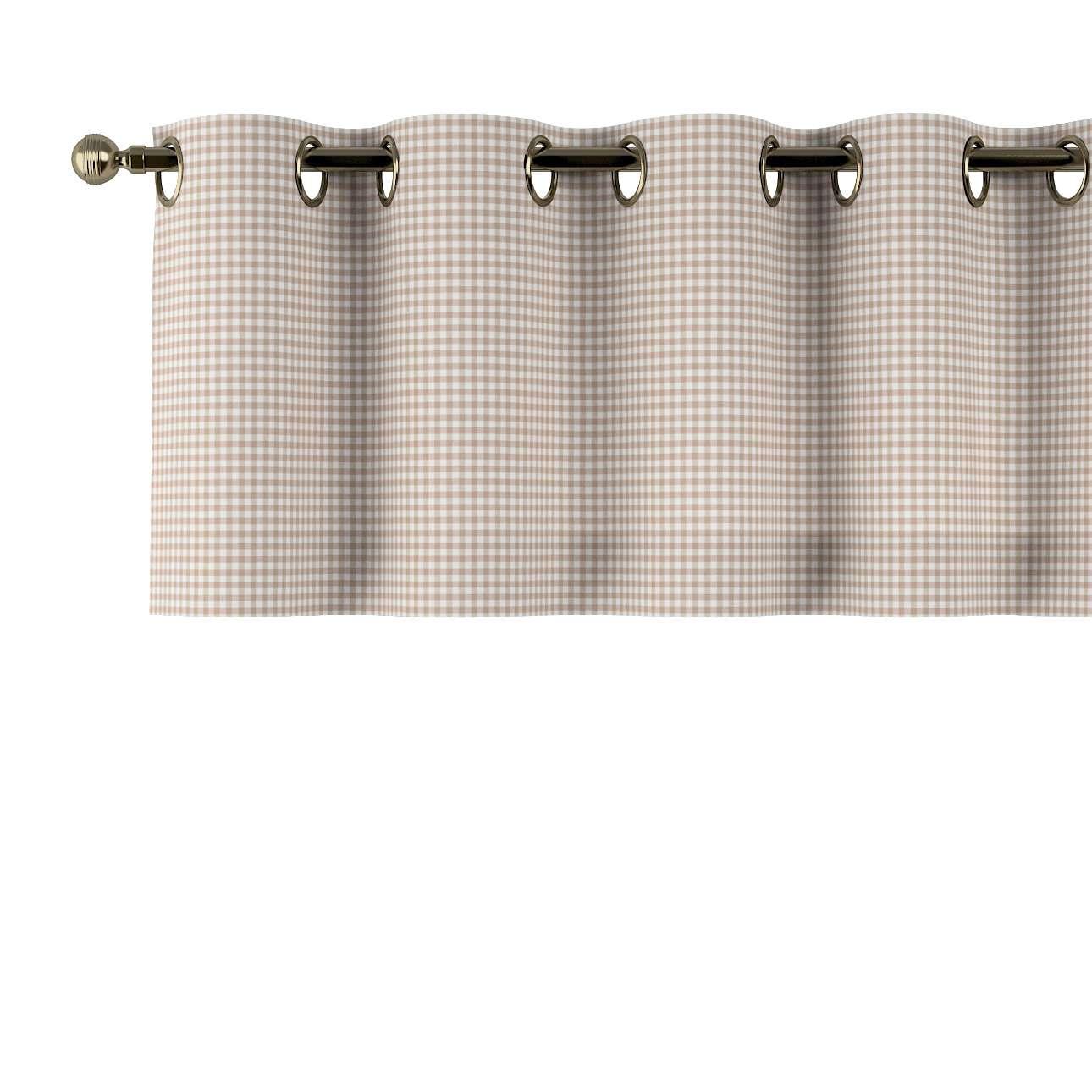 Trumpa užuolaidėlė (lambrekenas) žiedinis klostavimas 130x40cm kolekcijoje Quadro, audinys: 136-05