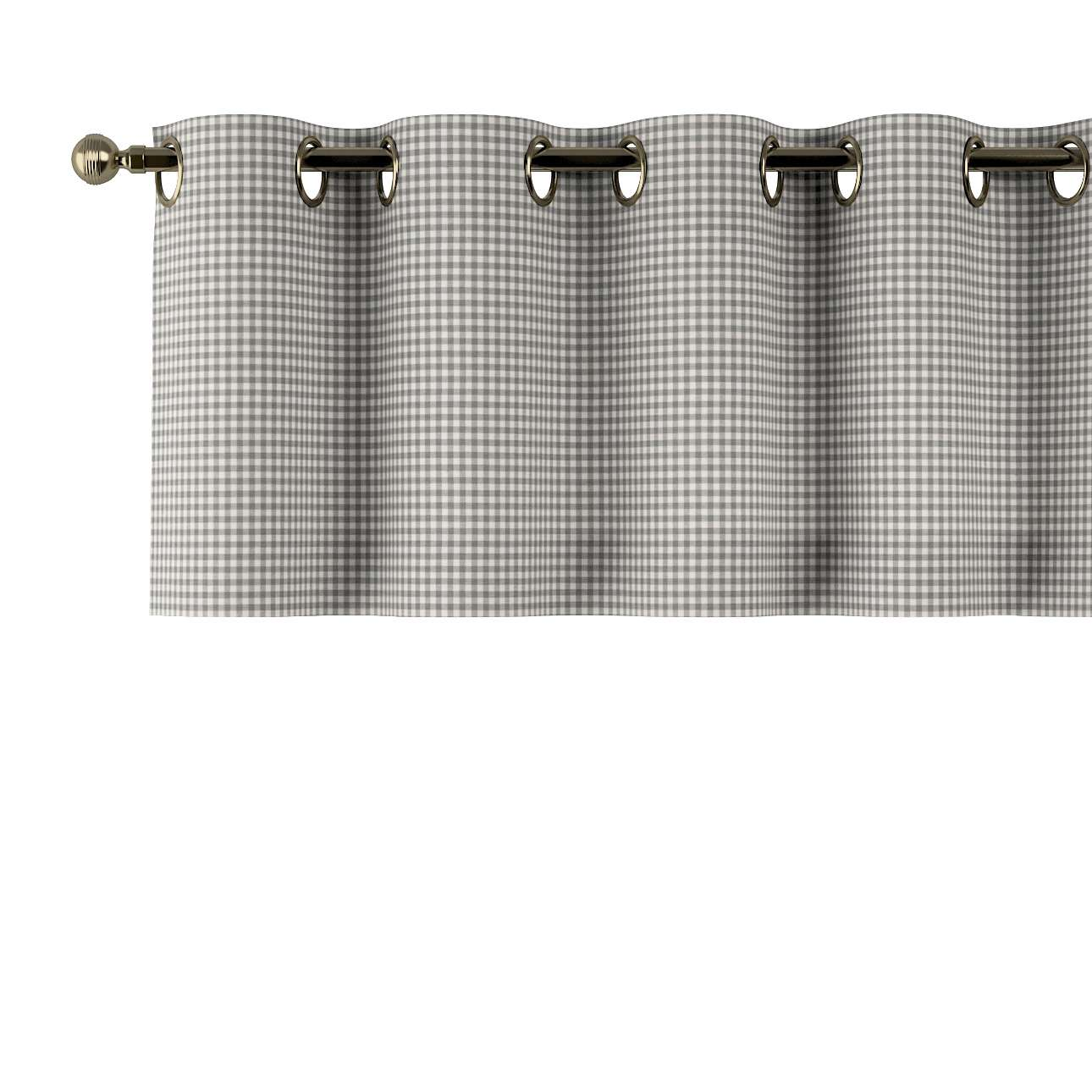 Trumpa užuolaidėlė (lambrekenas) žiedinis klostavimas 130x40cm kolekcijoje Quadro, audinys: 136-10