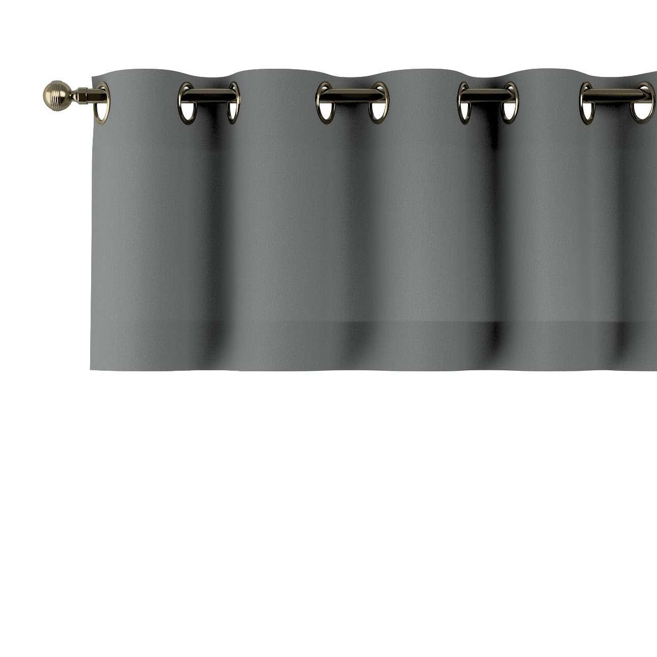 Trumpa užuolaidėlė (lambrekenas) žiedinis klostavimas 130x40cm kolekcijoje Quadro, audinys: 136-14