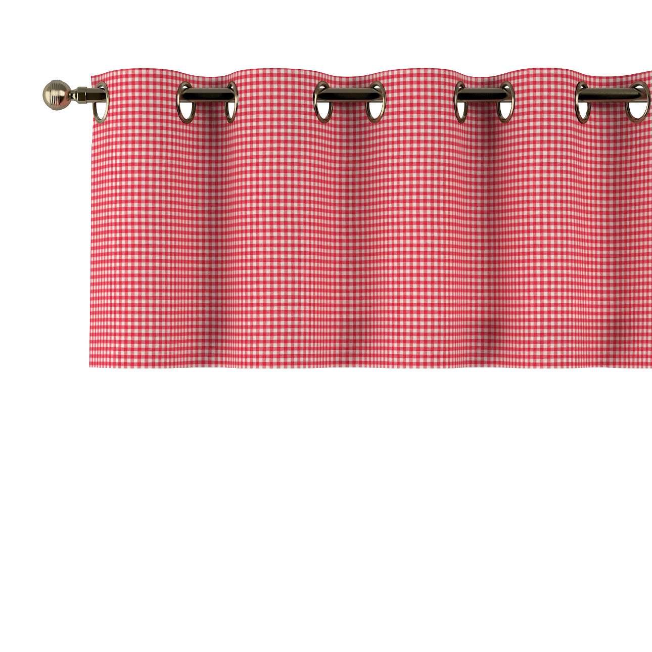 Kurzgardine mit Ösen 130x40cm von der Kollektion Quadro, Stoff: 136-15