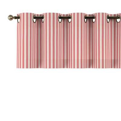 Krátky záves na kolieskach 136-17 červeno-biele prúžky Kolekcia Quadro