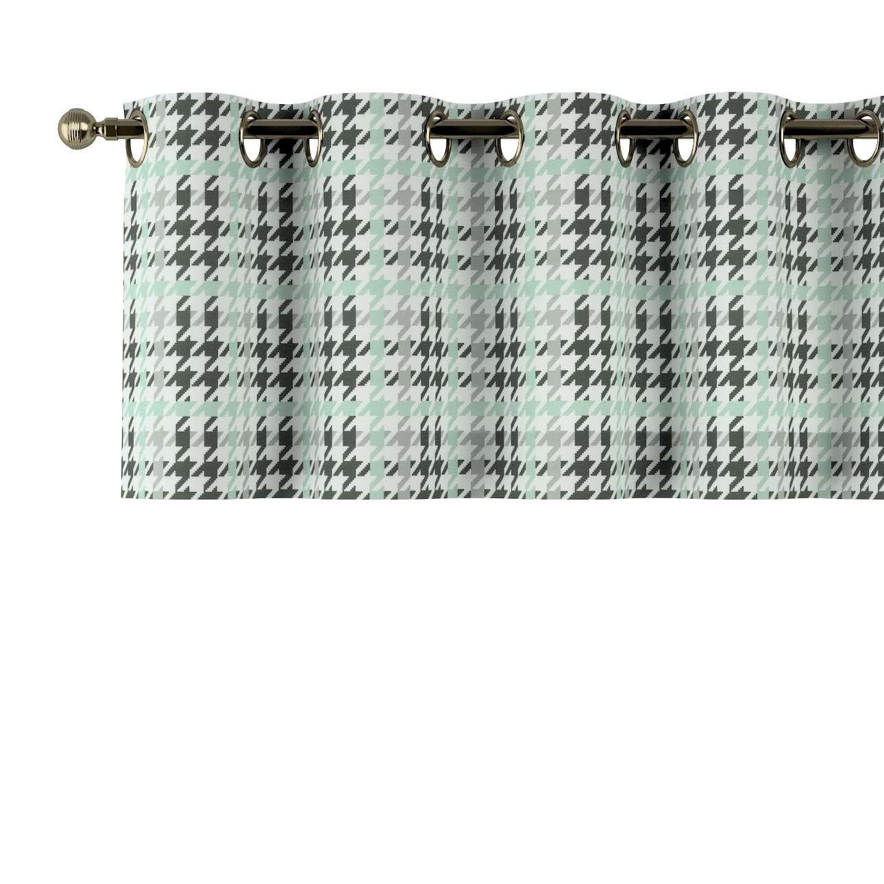 Trumpa užuolaidėlė (lambrekenas) žiedinis klostavimas 130x40cm kolekcijoje Brooklyn, audinys: 137-77