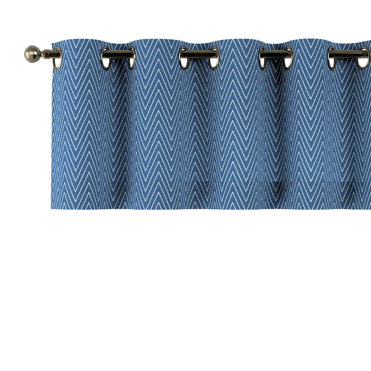 Trumpa užuolaidėlė (lambrekenas) žiedinis klostavimas 130x40cm kolekcijoje Brooklyn, audinys: 137-88