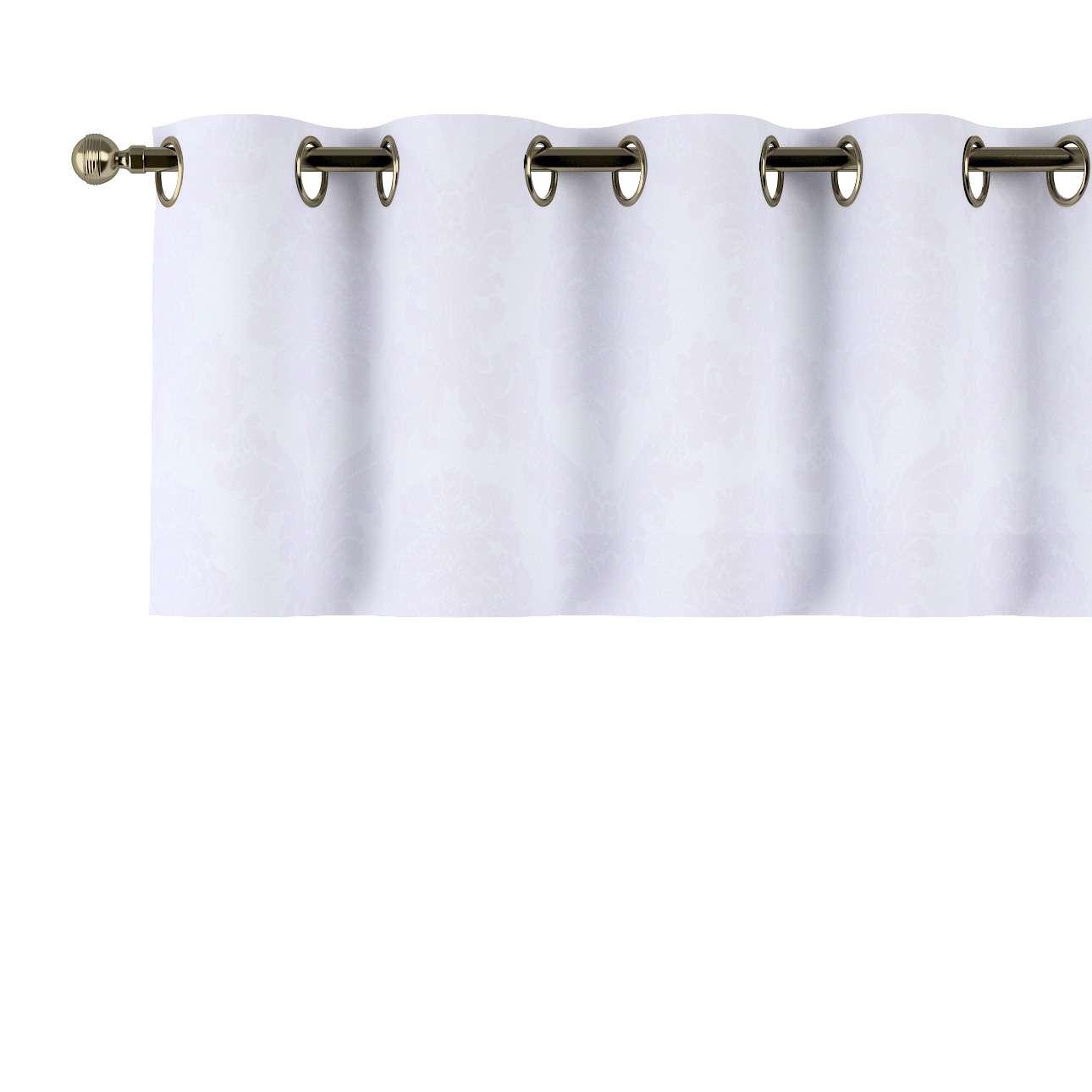 Gardinkappa med öljetter 130 × 40 cm i kollektionen Damasco, Tyg: 613-00