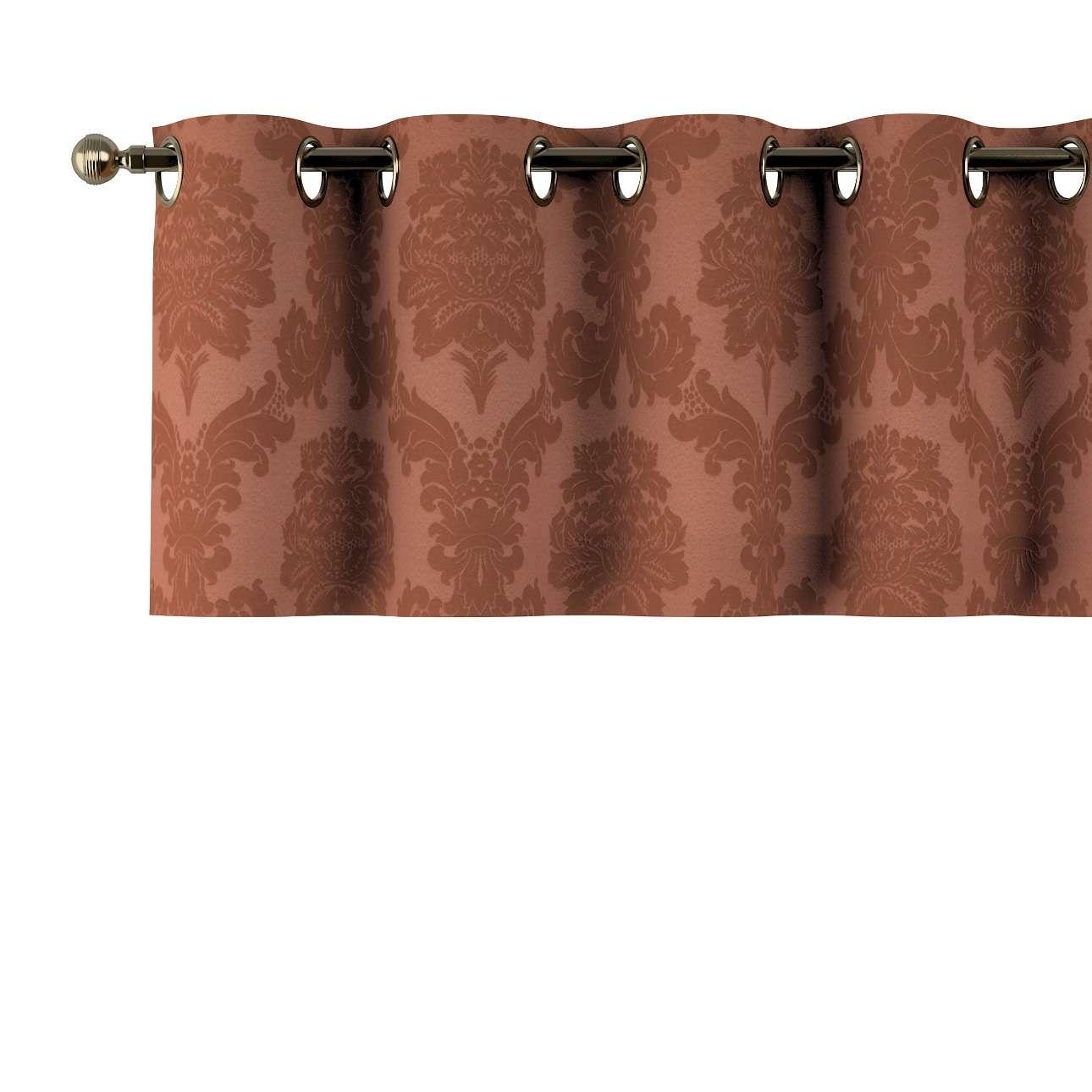 Kurzgardine mit Ösen 130x40cm von der Kollektion Damasco, Stoff: 613-88