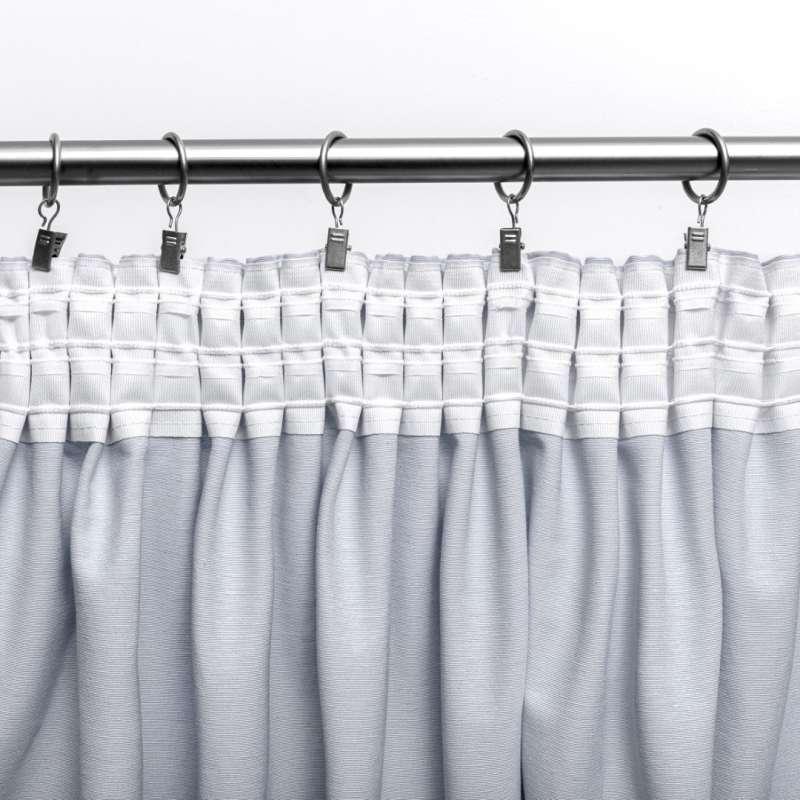 Vorhang mit Kräuselband von der Kollektion Black & White, Stoff: 142-56