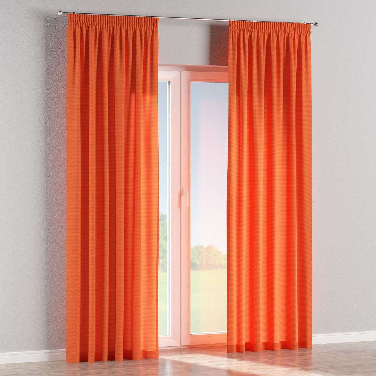 Pencil pleat curtains 130 x 260 cm (51 x 102 inch) in collection Jupiter, fabric: 127-35