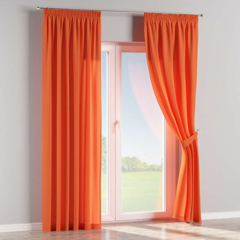 Pencil pleat curtain in collection Jupiter, fabric: 127-35