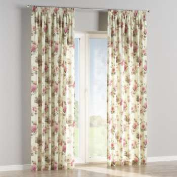 Pencil pleat curtains 130 x 260 cm (51 x 102 inch) in collection Mirella, fabric: 141-07