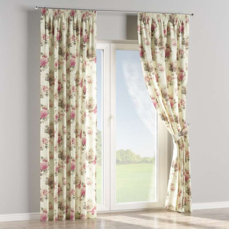 Pencil pleat curtains in collection Londres, fabric: 141-07