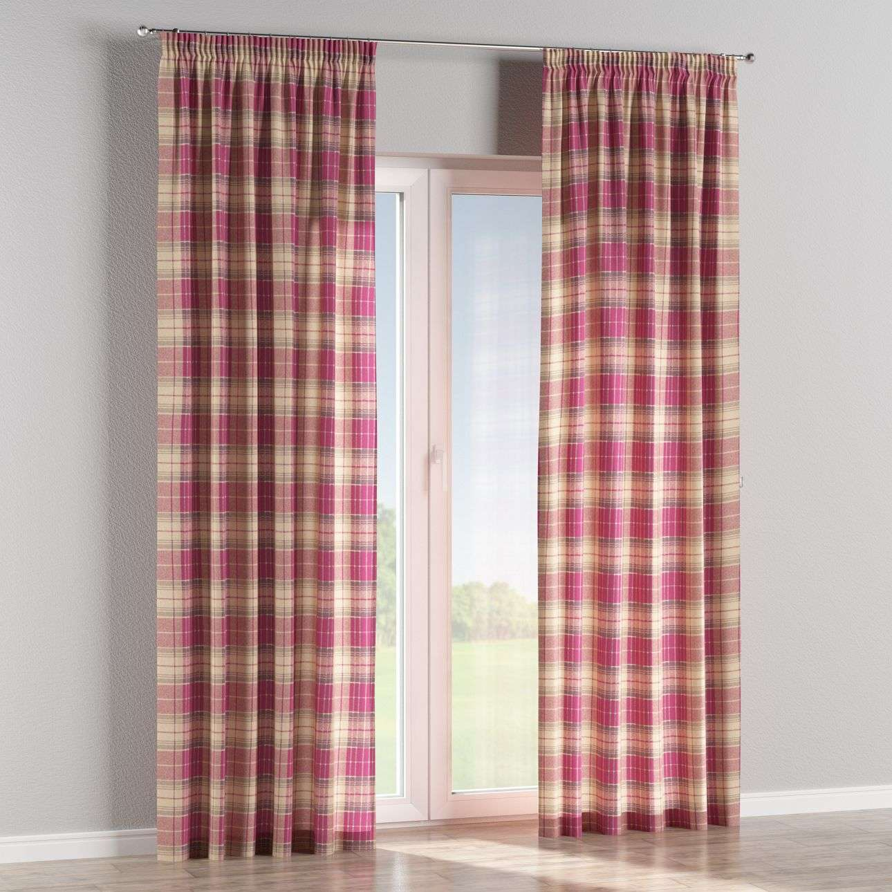 Pencil pleat curtains 130 x 260 cm (51 x 102 inch) in collection Mirella, fabric: 142-07