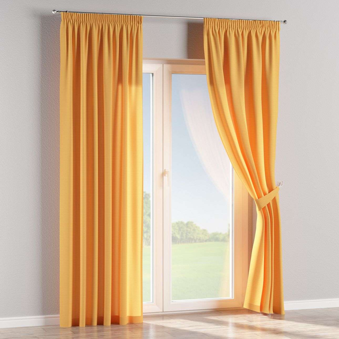 Pencil pleat curtains 130 x 260 cm (51 x 102 inch) in collection Jupiter, fabric: 127-46