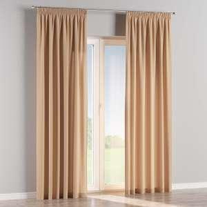 Vorhang mit Kräuselband 130 x 260 cm von der Kollektion Cotton Panama, Stoff: 702-01