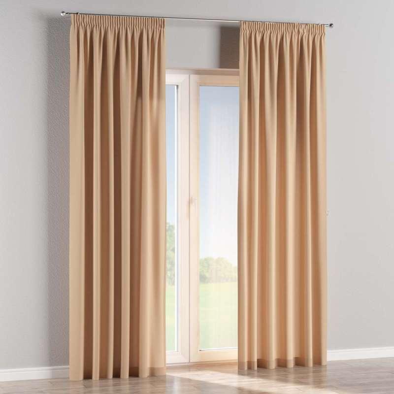 Vorhang mit Kräuselband von der Kollektion Cotton Panama, Stoff: 702-01
