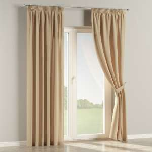 Pencil pleat curtains 130 x 260 cm (51 x 102 inch) in collection Cotton Panama, fabric: 702-01