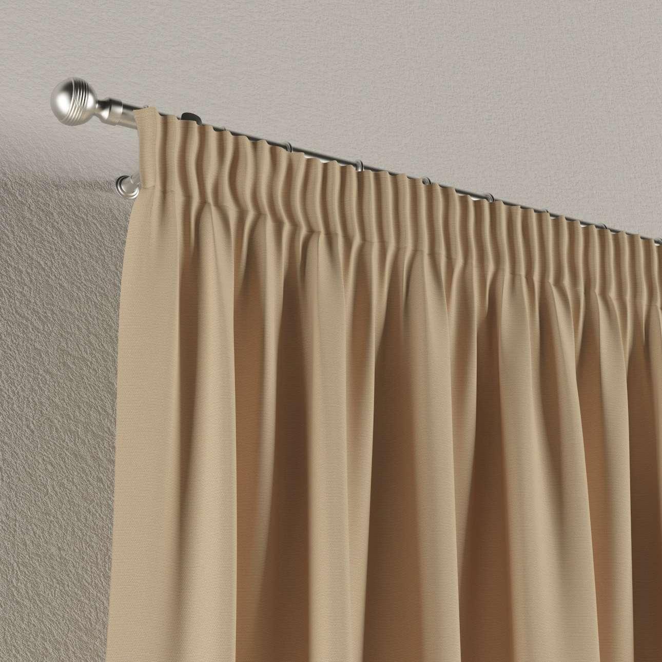 Pieštukinio klostavimo užuolaidos 130 x 260 cm (plotis x ilgis) kolekcijoje Cotton Panama, audinys: 702-01
