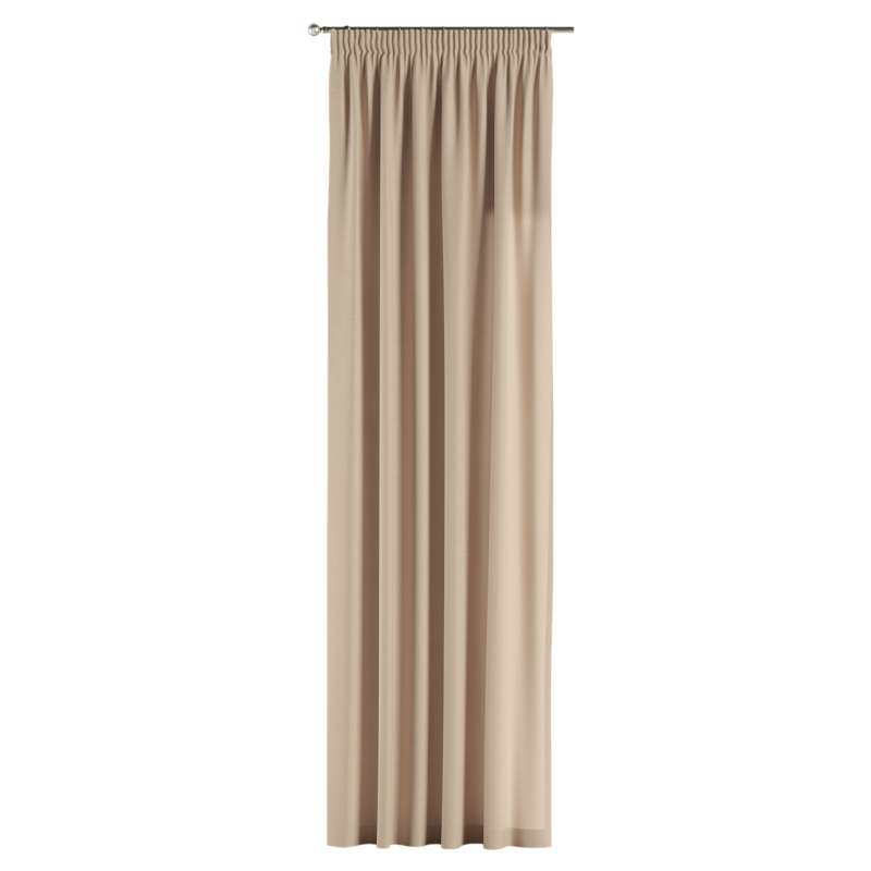 Pencil pleat curtain in collection Panama Cotton, fabric: 702-01