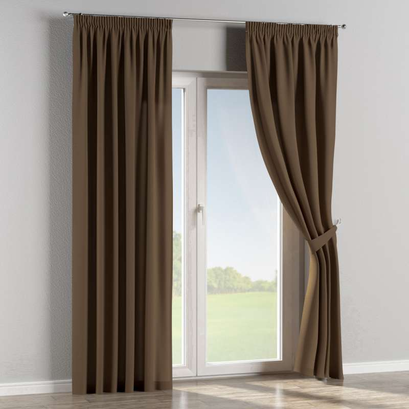 Pencil pleat curtain in collection Panama Cotton, fabric: 702-02