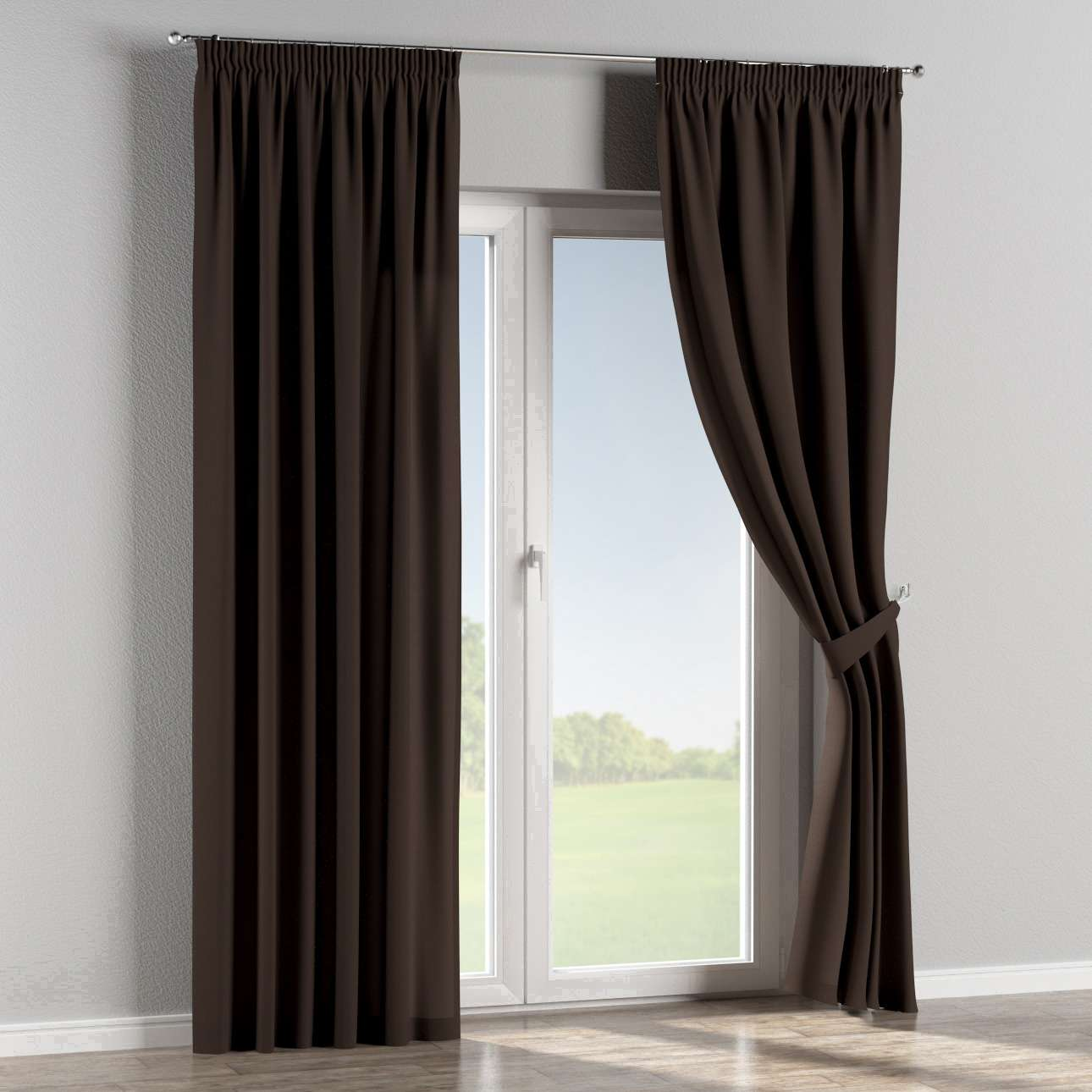 Pencil pleat curtains 130 x 260 cm (51 x 102 inch) in collection Panama Cotton, fabric: 702-03