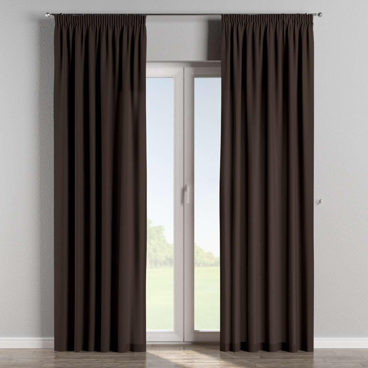 Vorhang mit Kräuselband 130 x 260 cm von der Kollektion Cotton Panama, Stoff: 702-03