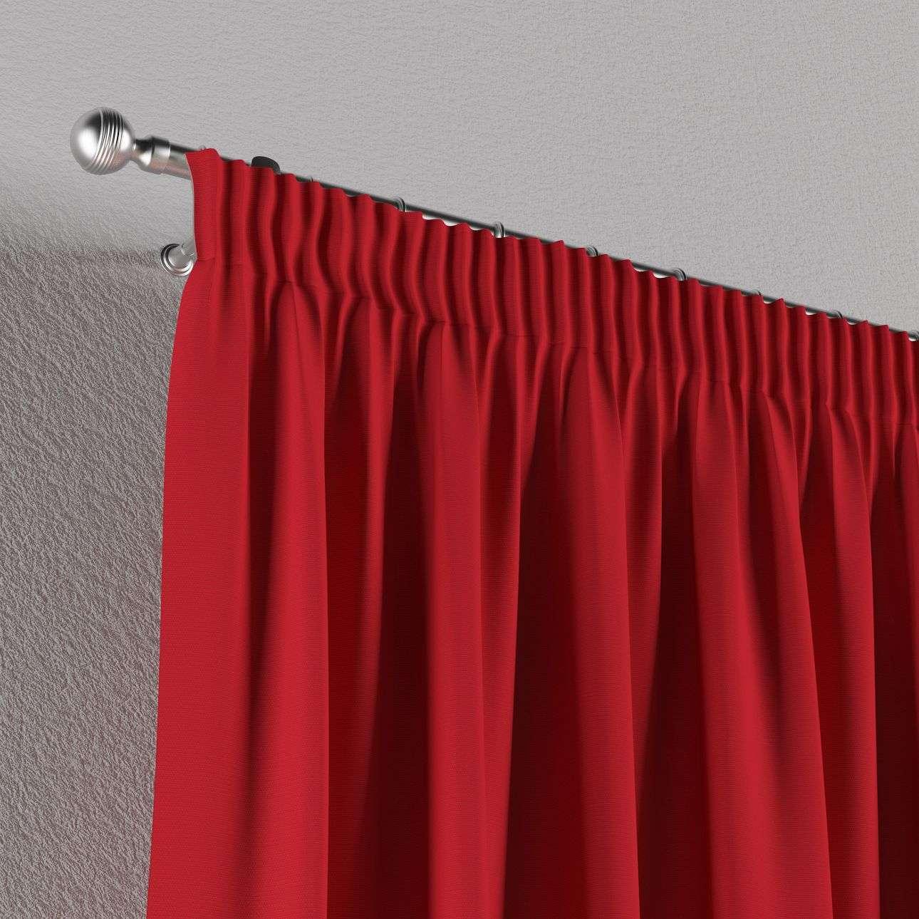Pieštukinio klostavimo užuolaidos 130 × 260 cm (plotis × ilgis) kolekcijoje Cotton Panama, audinys: 702-04