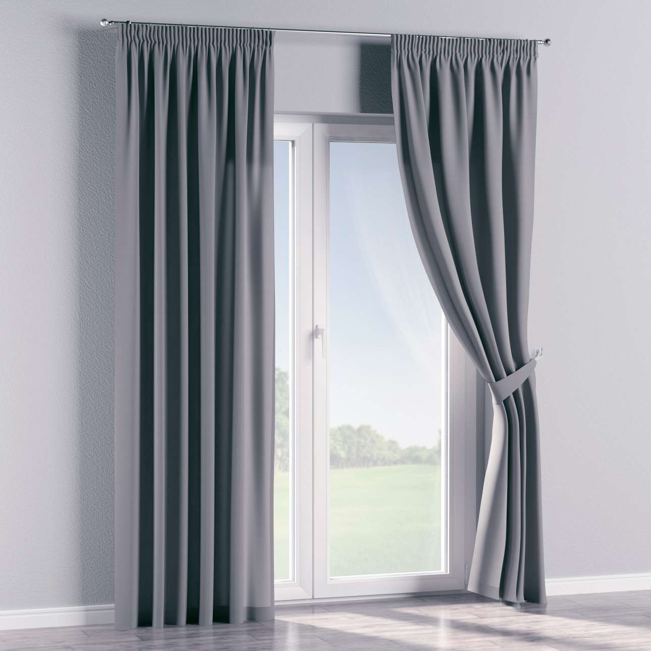 Pencil pleat curtains 130 x 260 cm (51 x 102 inch) in collection Cotton Panama, fabric: 702-07