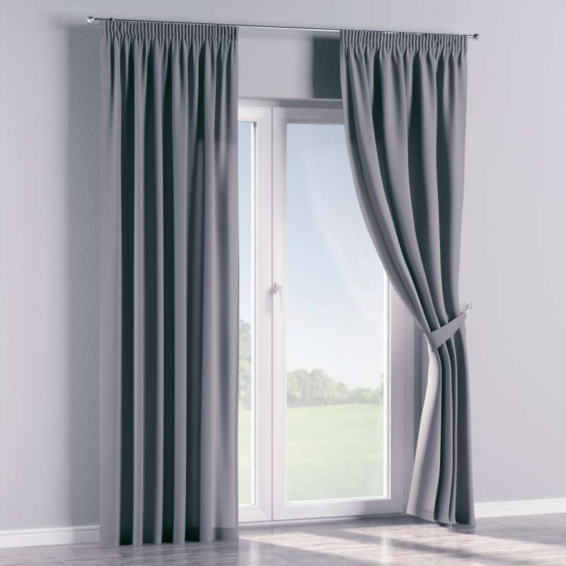 Pencil pleat curtains in collection Panama Cotton, fabric: 702-07