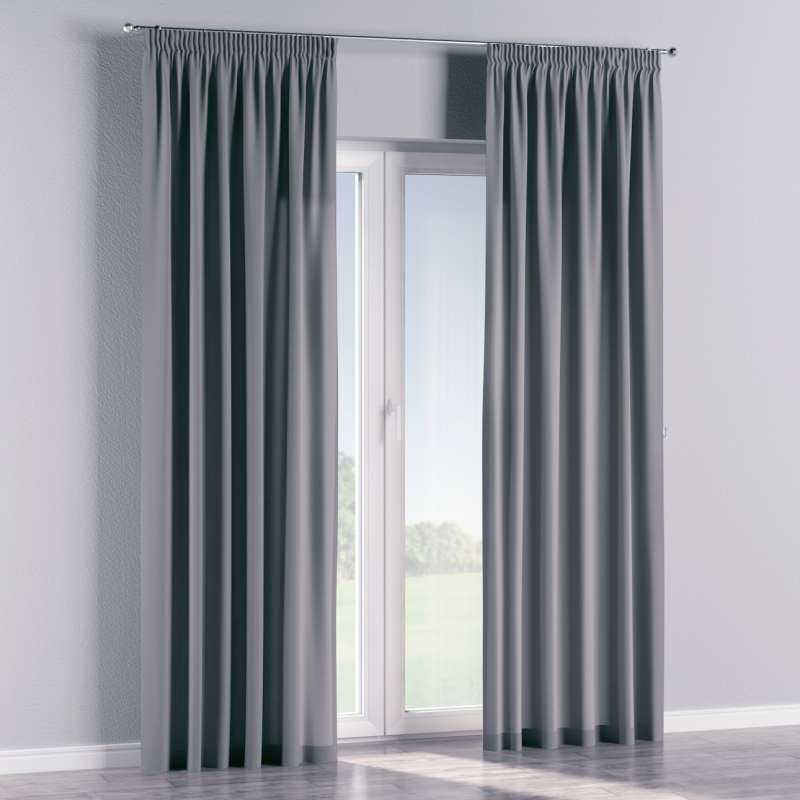 Pencil pleat curtain in collection Panama Cotton, fabric: 702-07