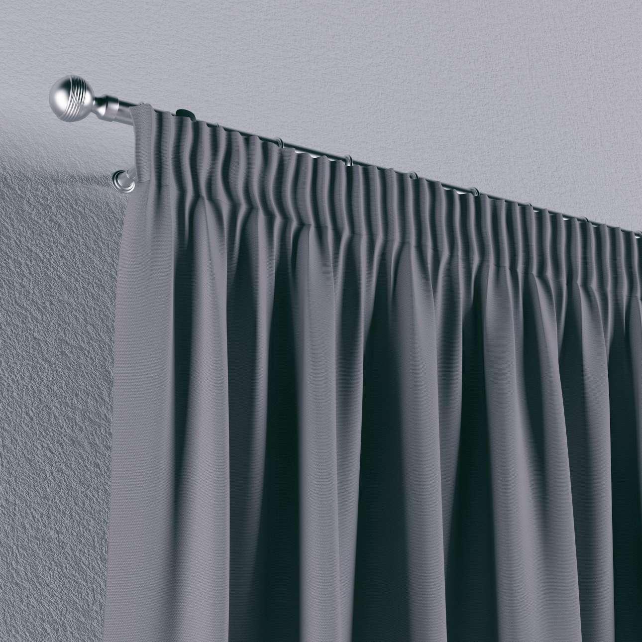 Gardin med rynkebånd 1 stk. 130 x 260 cm fra kolleksjonen Cotton Panama, Stoffets bredde: 702-07