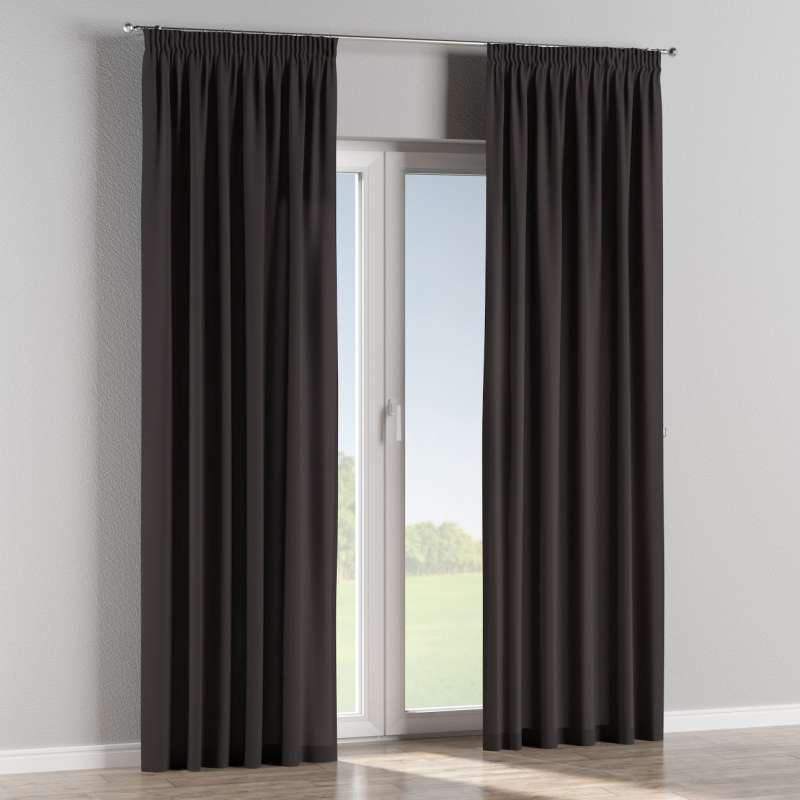 Pencil pleat curtain in collection Panama Cotton, fabric: 702-09