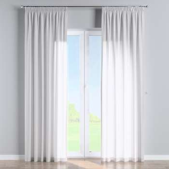 Pencil pleat curtains in collection Linen, fabric: 392-03