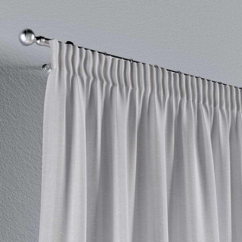 Vorhang mit Kräuselband von der Kollektion Leinen, Stoff: 392-03