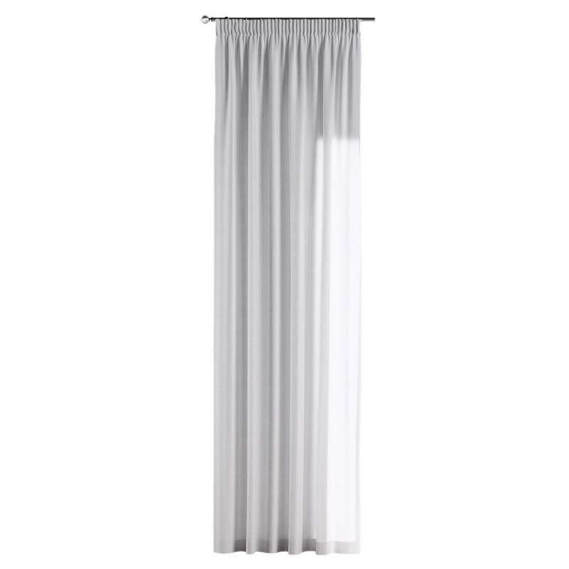 Pencil pleat curtain in collection Linen, fabric: 392-03