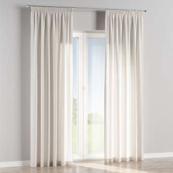 Pencil pleat curtains in collection Linen, fabric: 392-04