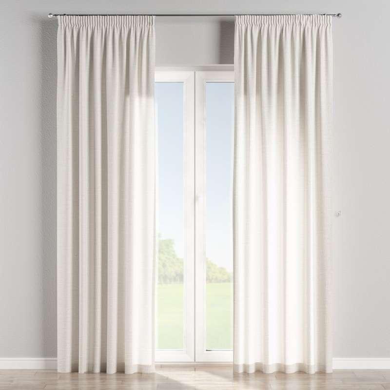 Vorhang mit Kräuselband von der Kollektion Leinen, Stoff: 392-04
