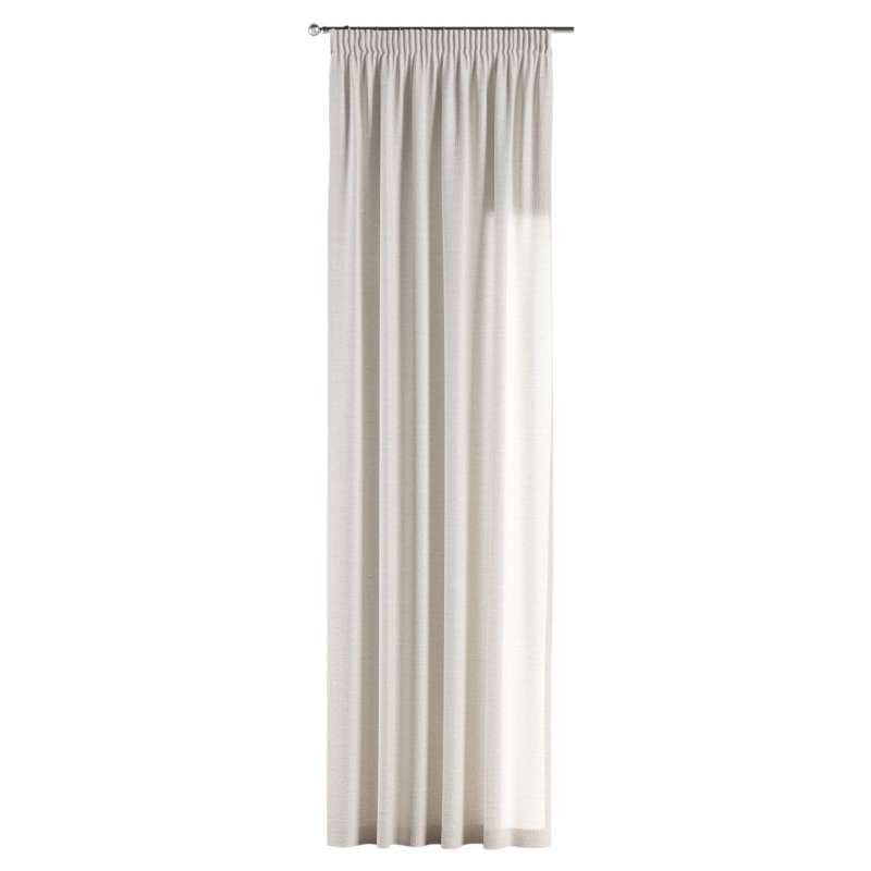Pencil pleat curtain in collection Linen, fabric: 392-04