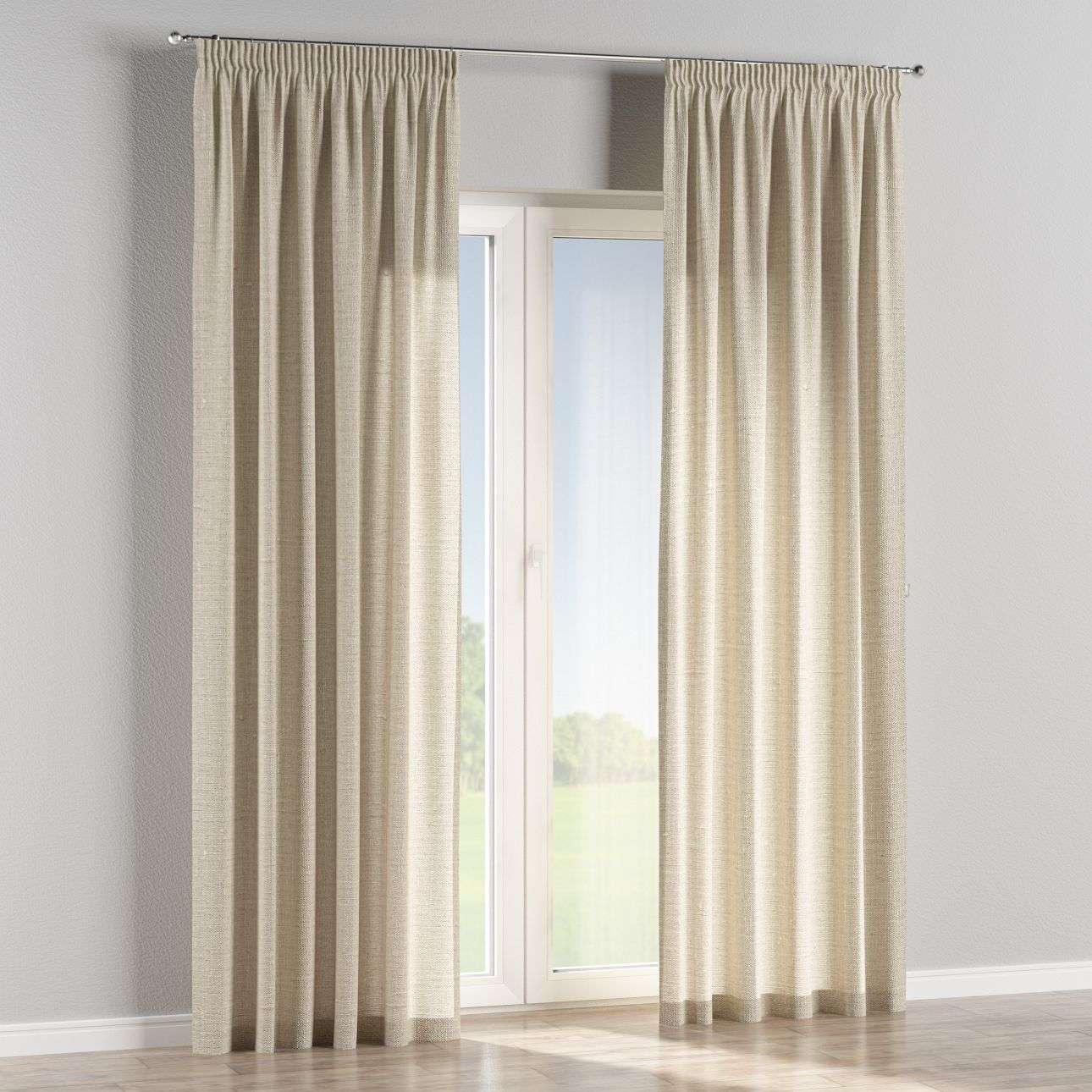Pencil pleat curtains 130 × 260 cm (51 × 102 inch) in collection Linen, fabric: 392-05
