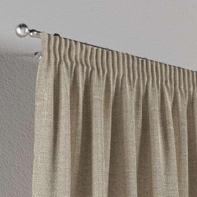 Vorhang mit Kräuselband von der Kollektion Leinen, Stoff: 392-05