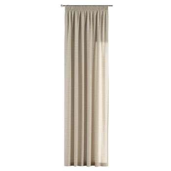 Pencil pleat curtains 130 x 260 cm (51 x 102 inch) in collection Linen, fabric: 392-05