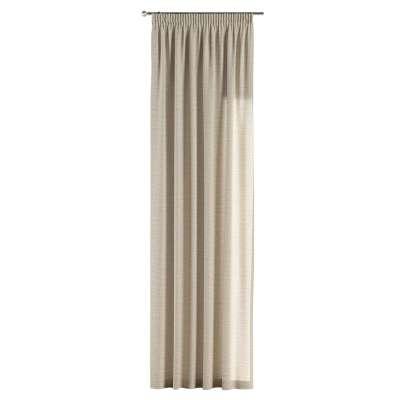 Záves na riasiacej páske V kolekcii Linen, tkanina: 392-05