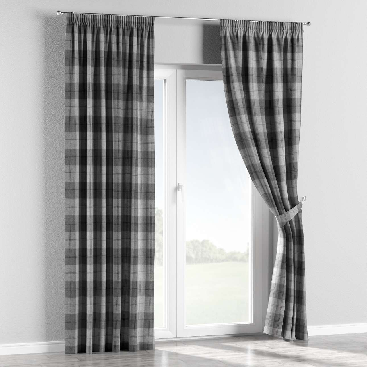 Pencil pleat curtains 130 x 260 cm (51 x 102 inch) in collection Edinburgh, fabric: 115-75