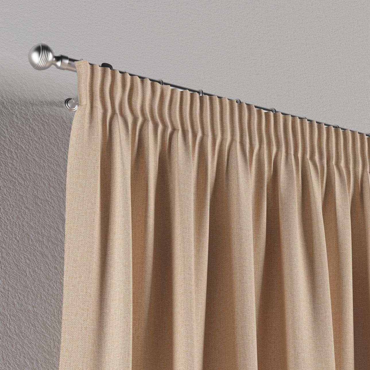 Vorhang mit Kräuselband 130 x 260 cm von der Kollektion Edinburgh , Stoff: 115-78