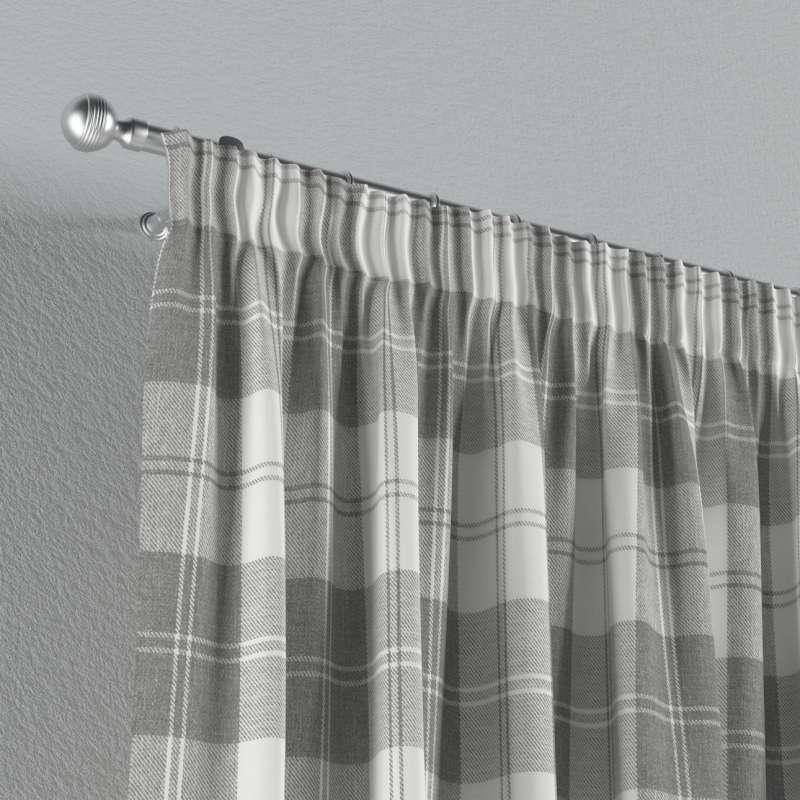 Gardin med rynkband 1 längd i kollektionen Edinburgh, Tyg: 115-79
