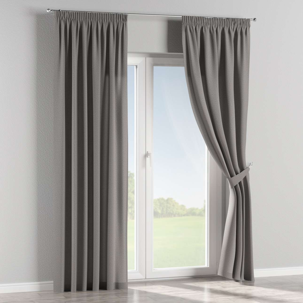 Pencil pleat curtains in collection Edinburgh, fabric: 115-81