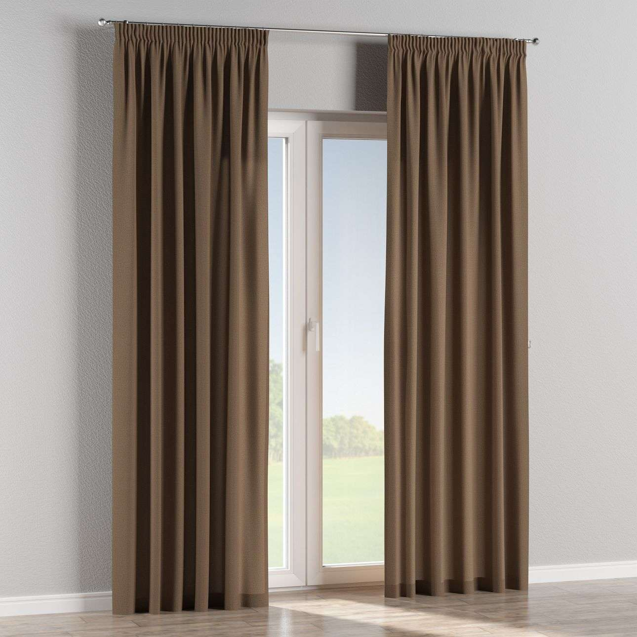 Pencil pleat curtains 130 x 260 cm (51 x 102 inch) in collection Edinburgh , fabric: 115-85