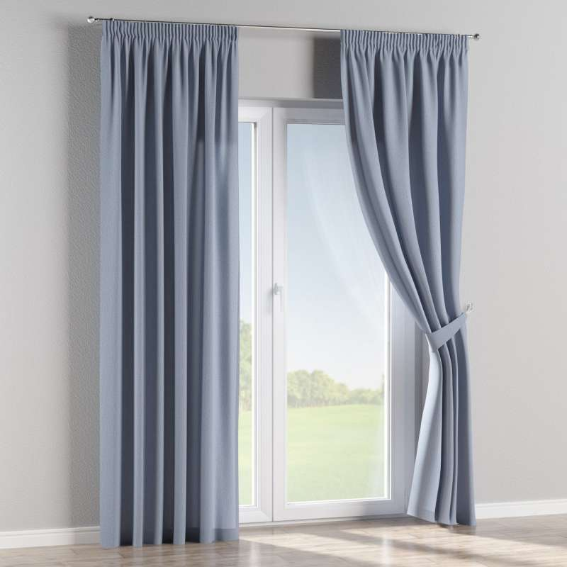 Pencil pleat curtain in collection Chenille, fabric: 702-13