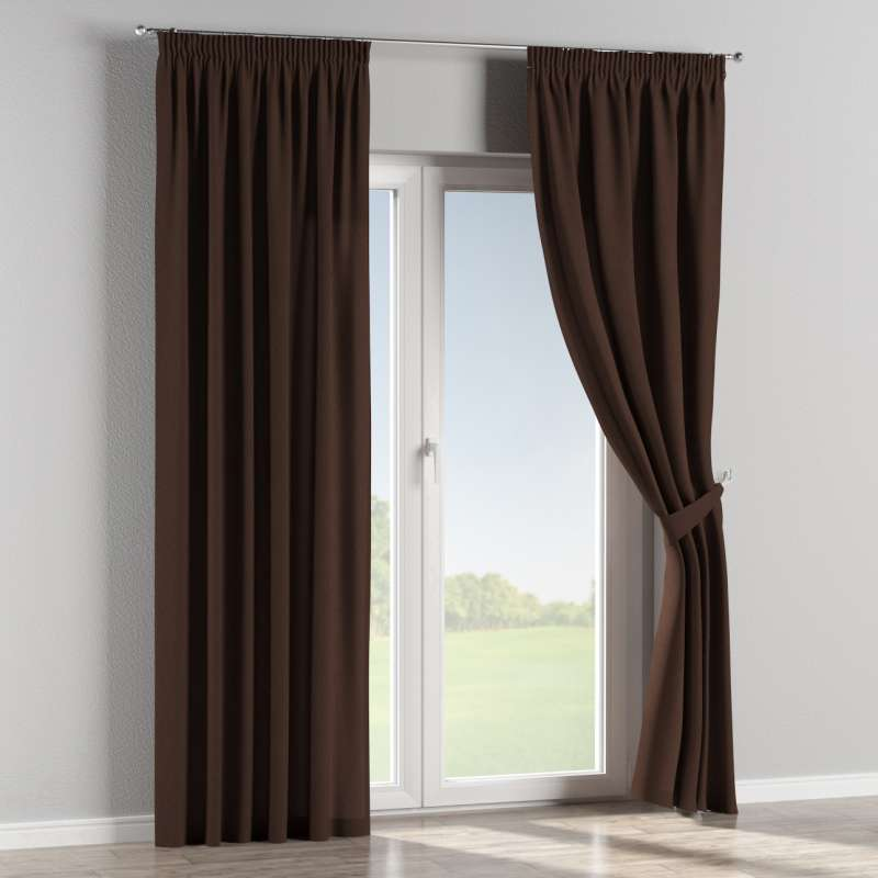 Pencil pleat curtains in collection Chenille, fabric: 702-18