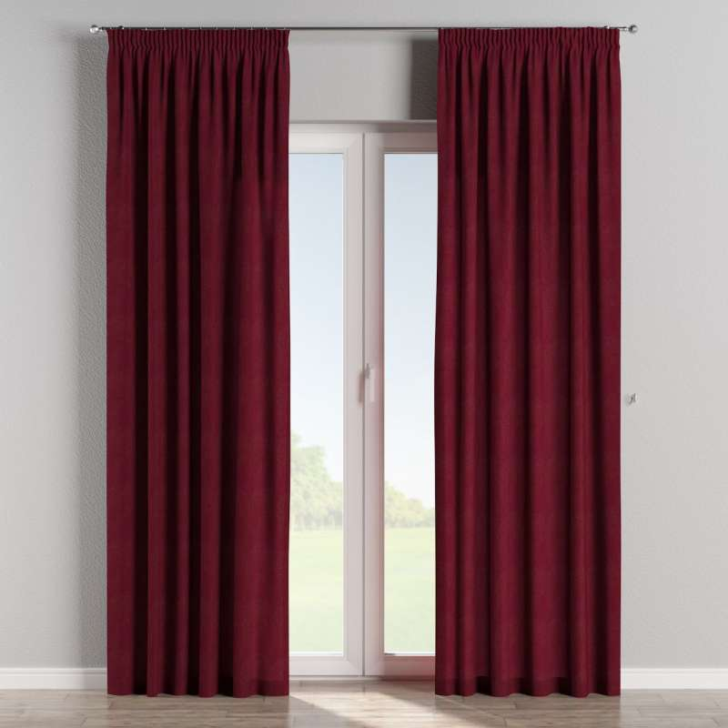 Pencil pleat curtains in collection Chenille, fabric: 702-19