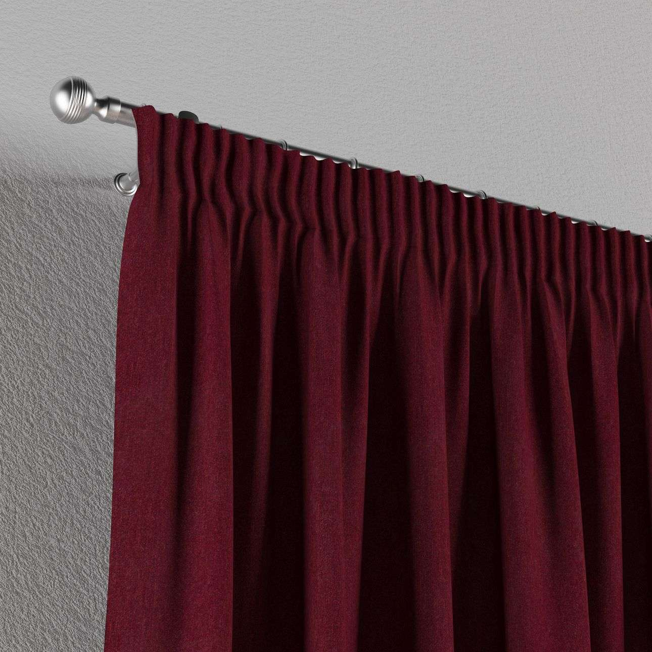 Pencil pleat curtains 130 x 260 cm (51 x 102 inch) in collection Chenille, fabric: 702-19